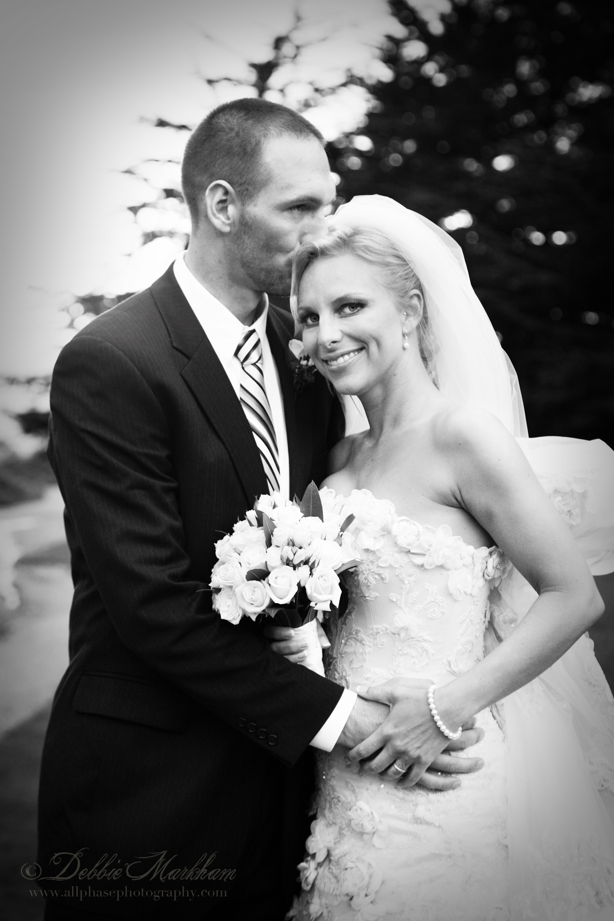 Beautiful Cloudy Day Wedding at Ragged Point Inn-Bride and Groom black and white-email size