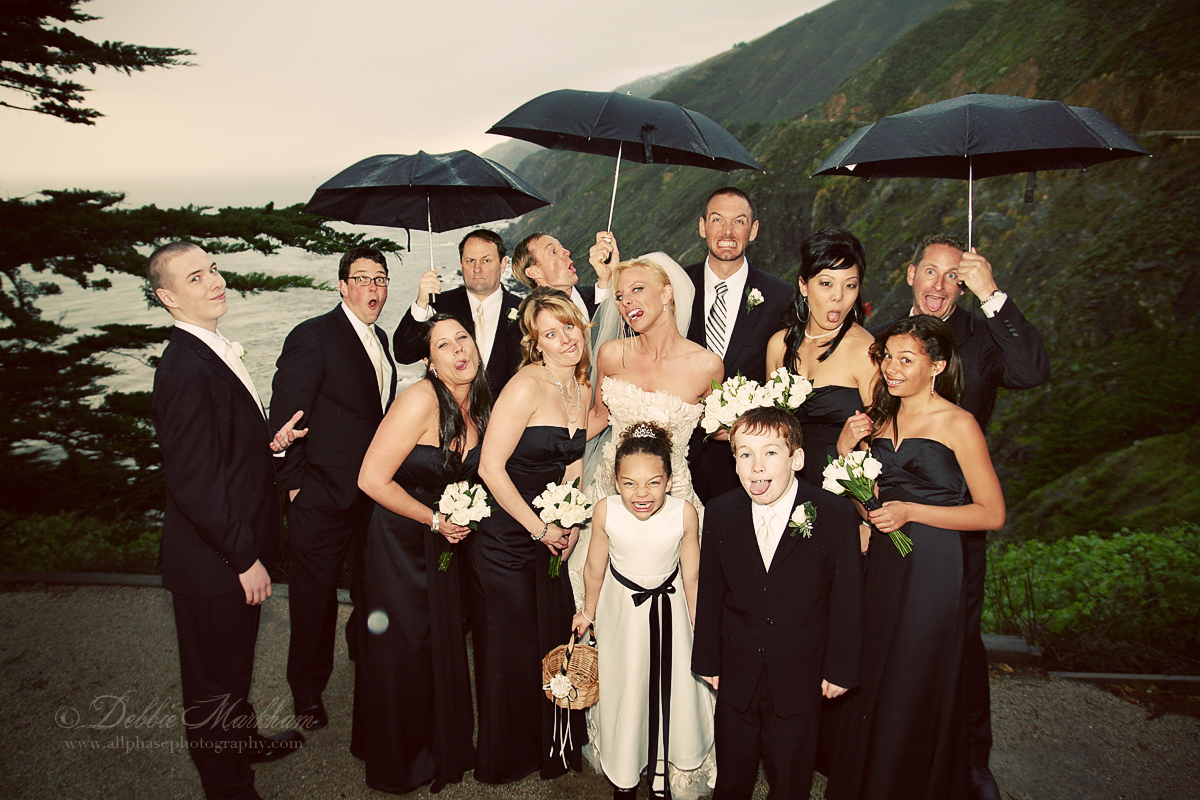 Rainy Day Wedding at Ragged point- Fun with Umbrellas-email size