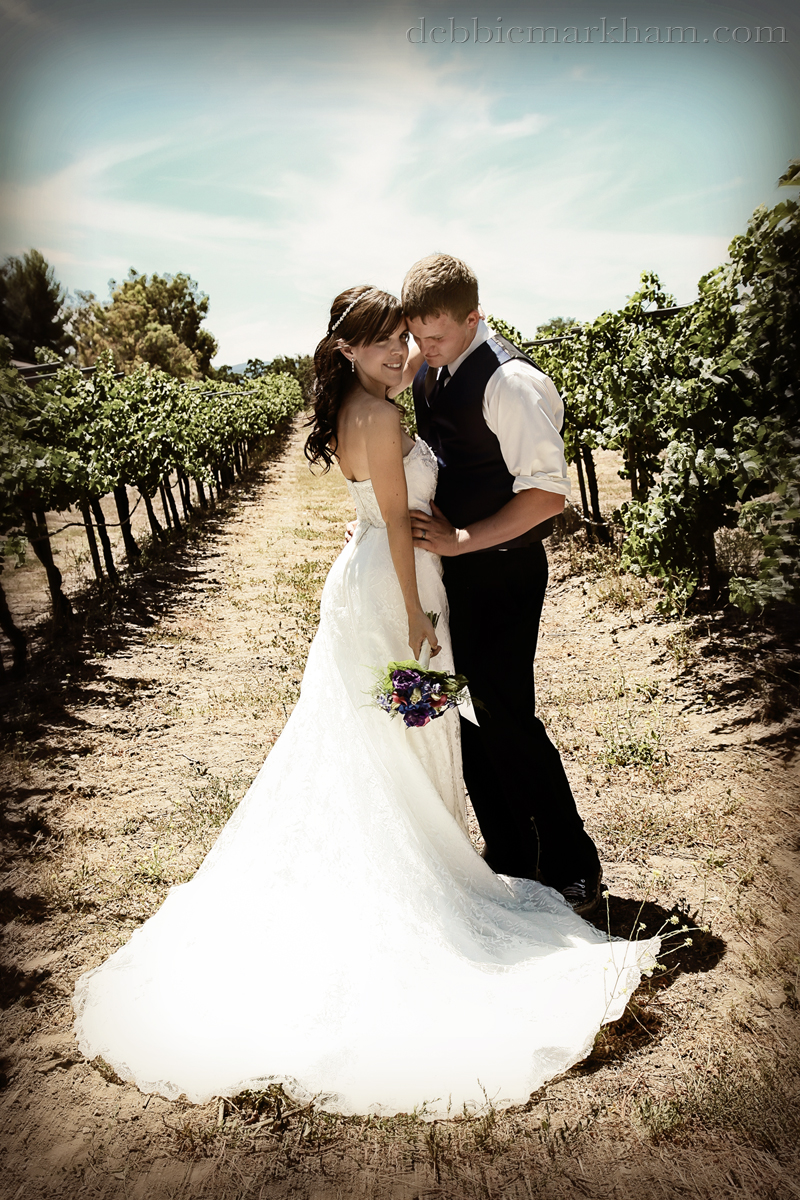 Cambria Photographer Debbie Markham-Paso Robles Wine Country Wedding at Castoro Winery-bride and groom soft edit
