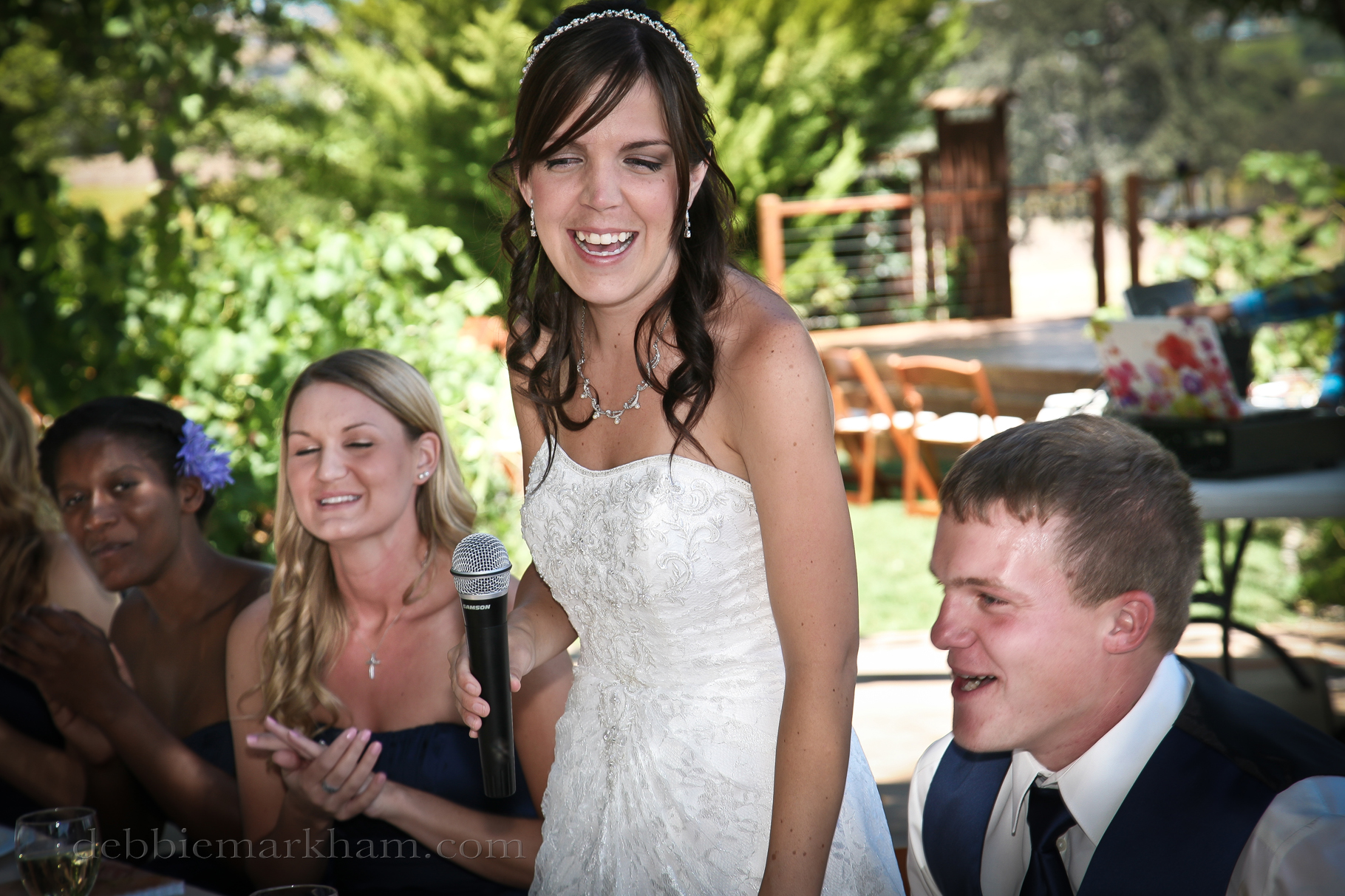 Cambria Photographer Debbie Markham-Paso Robles Wine Country Wedding at Castoro Winery-bride speach