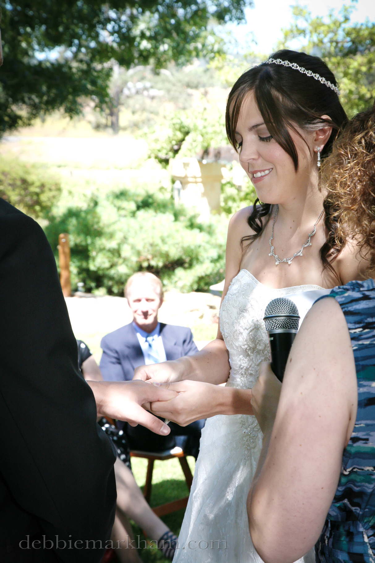 Cambria Photographer Debbie Markham-Professional Wedding Photos at Castoro Winery - Outdoor Ceremony at Vineyard