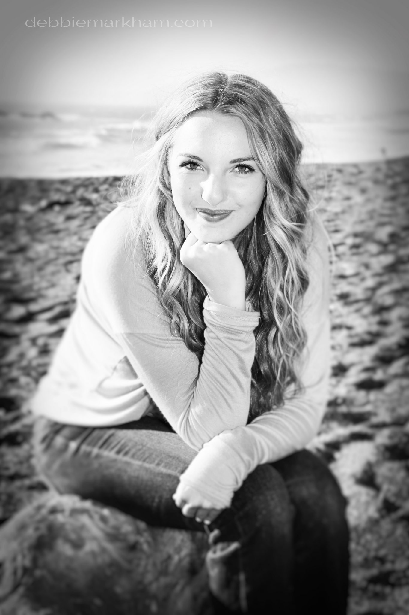 Kendall Senior Portrait on the Beach-Cambria26