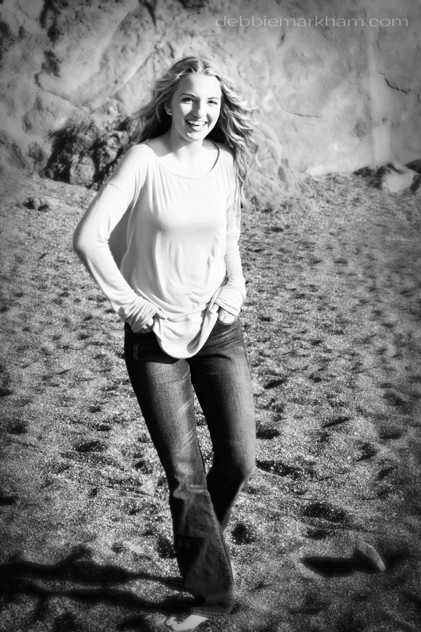 Kendall Senior Portrait on the Beach-Cambria29
