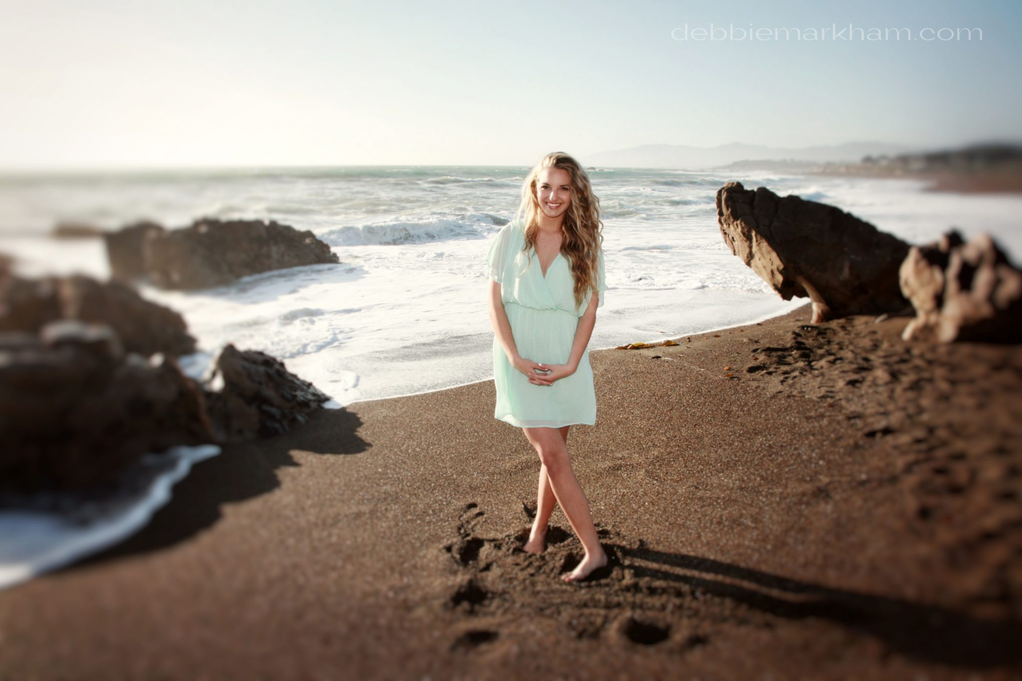 Kendall Senior Portrait on the Beach-Cambria33