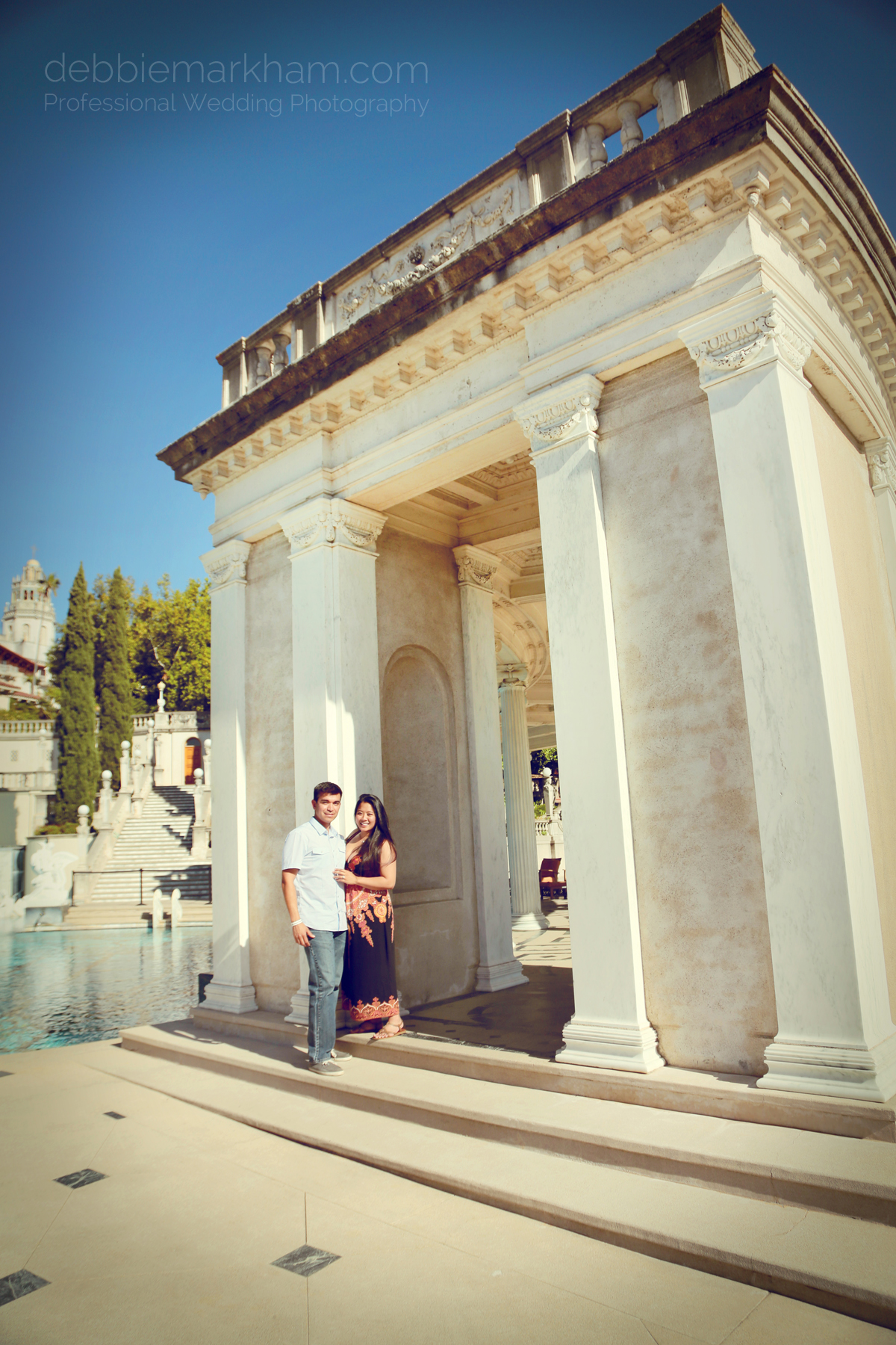 Debbie Markham Surprise Engagement Photography at Hearst Castle 319B1470retro warm
