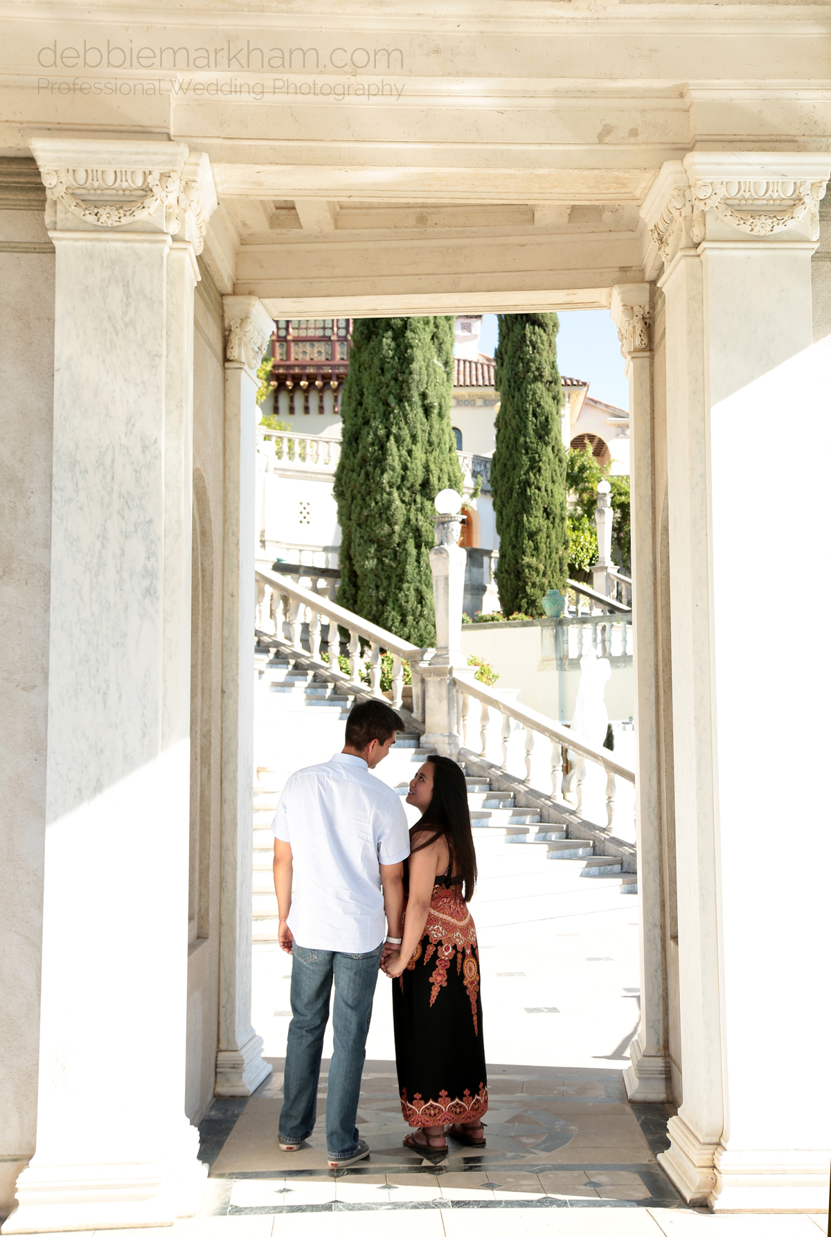 Debbie Markham Surprise Engagement Photography at Hearst Castle 319B1499