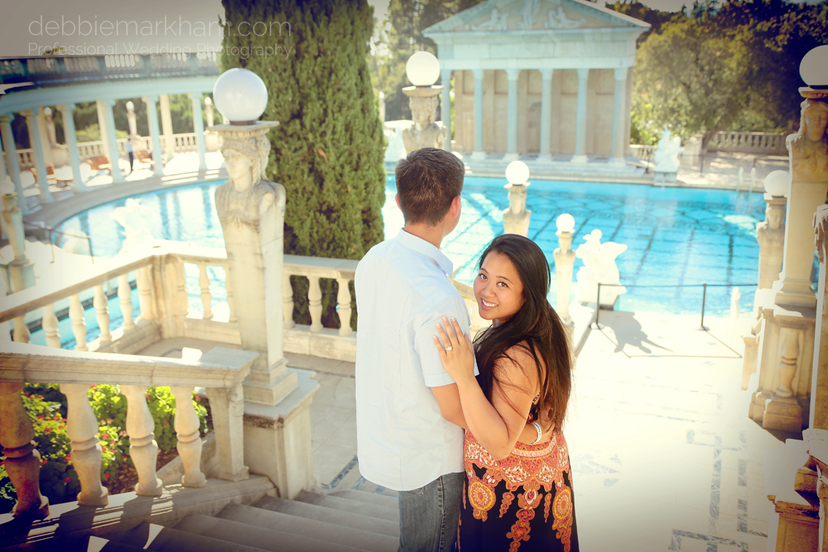 Debbie Markham Surprise Engagement Photography at Hearst Castle 319B1517retro warm