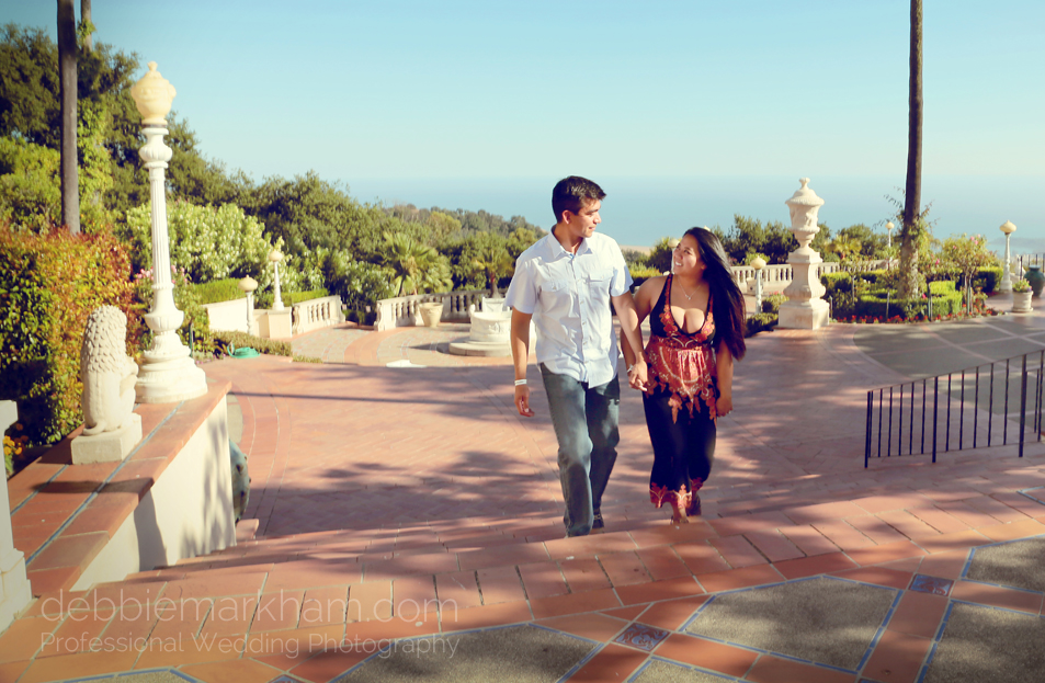 Debbie Markham Surprise Engagement Photography at Hearst Castle 319B1546retro warm