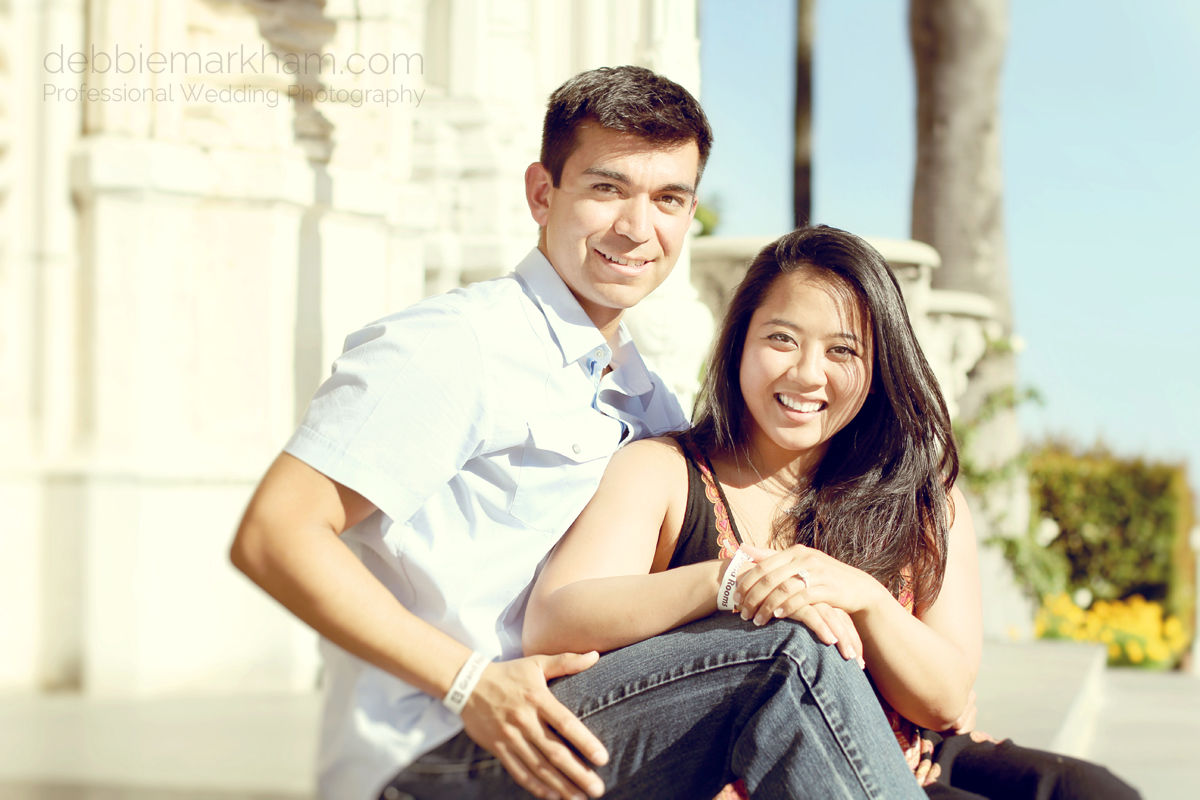 Debbie Markham Surprise Marriage Proposal and Engagement Photography at Hearst Castle
