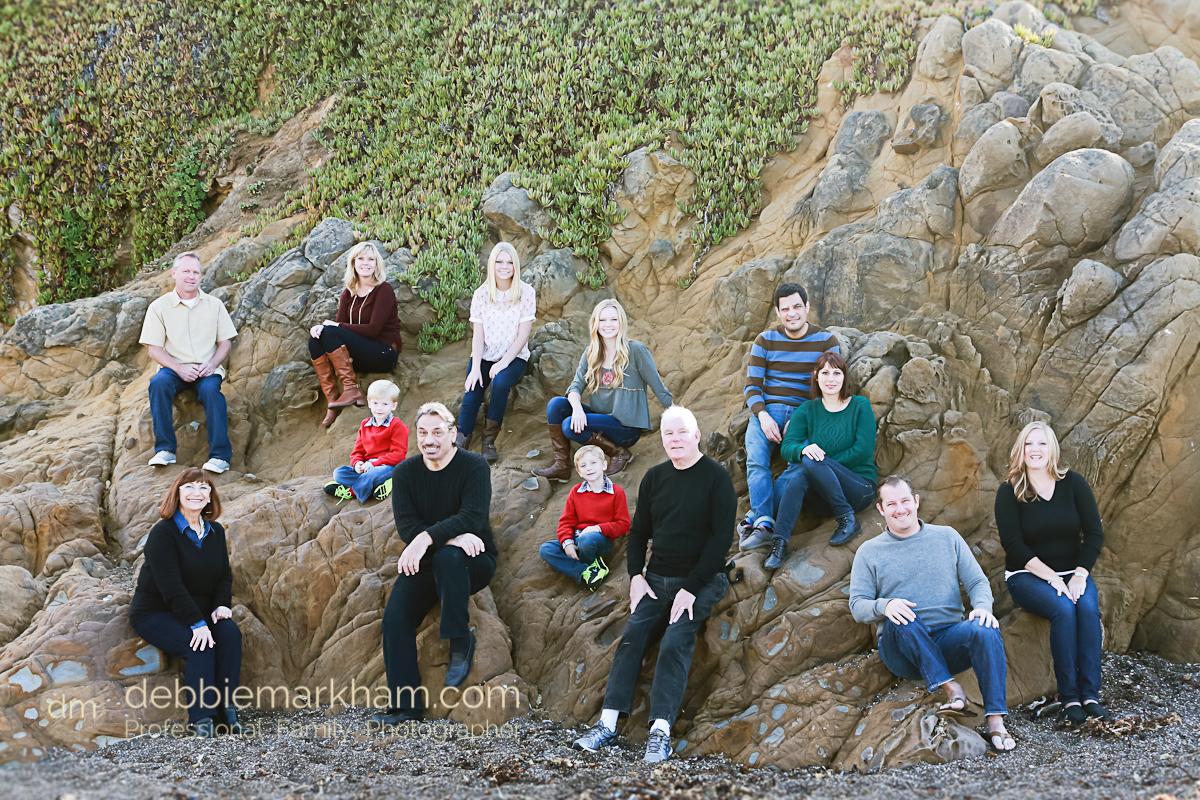 DEBBIE MARKHAM FAMILY REUNION PHOTOGRAPHER-Moonstone Beach-Cambria