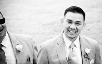 Groom laughing-Ragged Point Inn - Big Sur - Wedding Photographer - Debbie Markham
