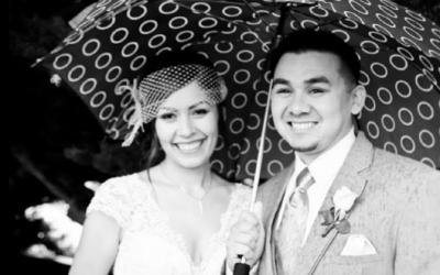 Umbrella Rainy Day-Ragged Point Inn - Big Sur - Wedding Photographer - Debbie Markham