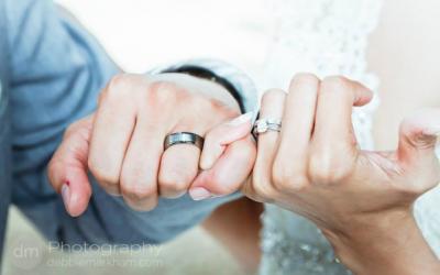 Wedding Rings-Fingers Interlocked-Ragged Point Inn - Big Sur - Wedding Photographer - Debbie Markham
