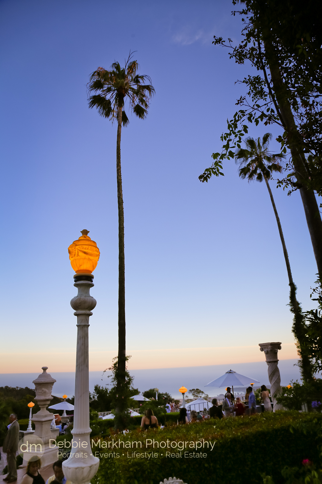 Debbie Markham Photography_Twilight on the Terace_Hearst Castle-1635