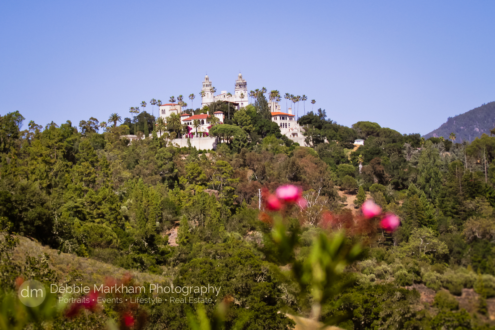 Debbie Markham Photography_Twilight on the Terace_Hearst Castle-4624