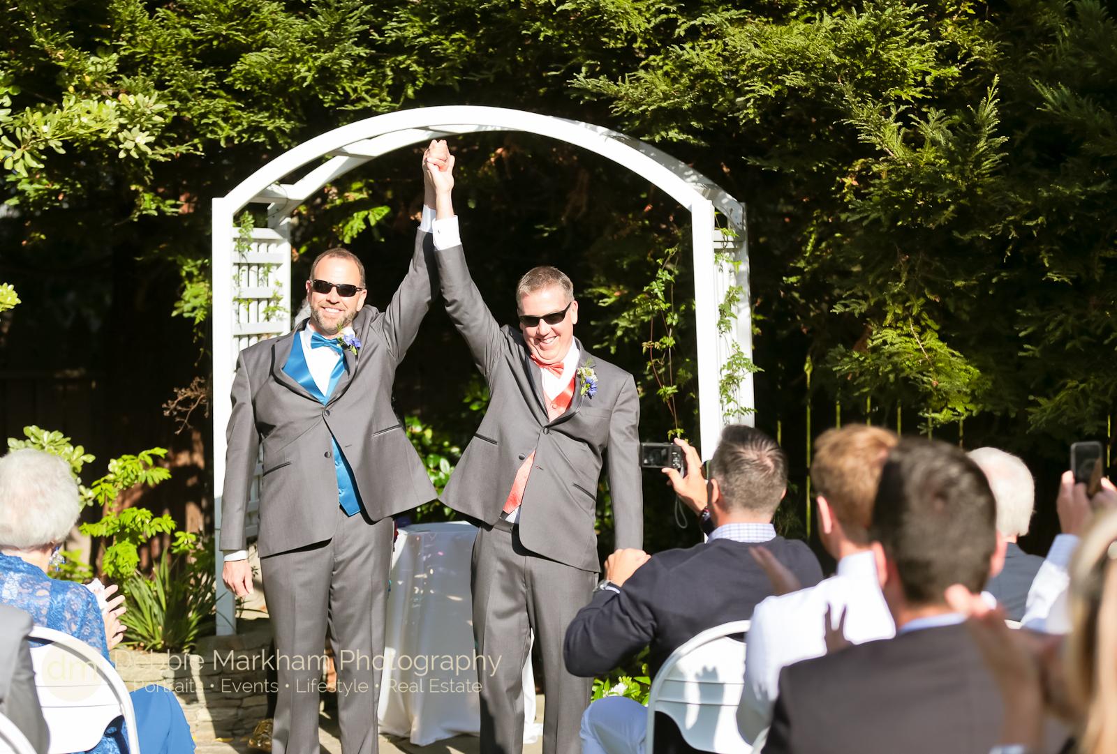 Tony and Scott Cambria Pines Lodge Garden Wedding _Cambria_Destination_Gay Wedding_Wedding Photographer_Debbie Markham_gay_lgbt
