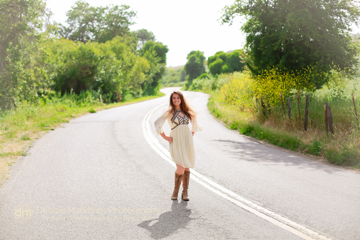Cambria Photographer_Debbie Markham Photography_Outdoor Senior Portrait_Country Road_Small Town-8887