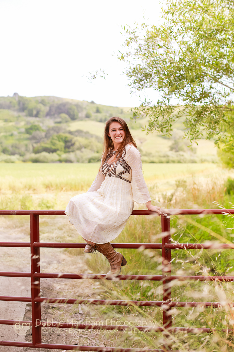 Cambria Photographer_Debbie Markham Photography_Outdoor Senior Portrait_Country Road_Small Town-8898