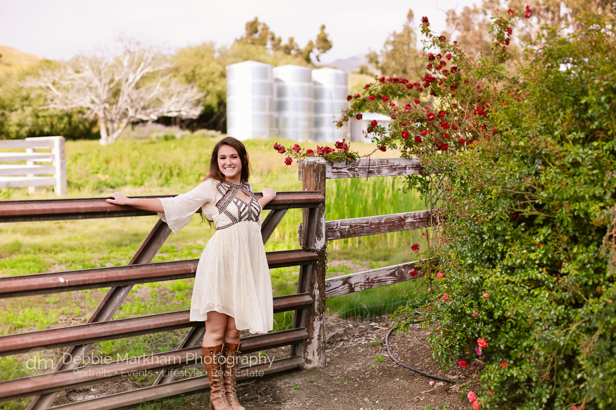 Cambria Photographer_Debbie Markham Photography_Outdoor Senior Portrait_Country Road_Small Town-8931
