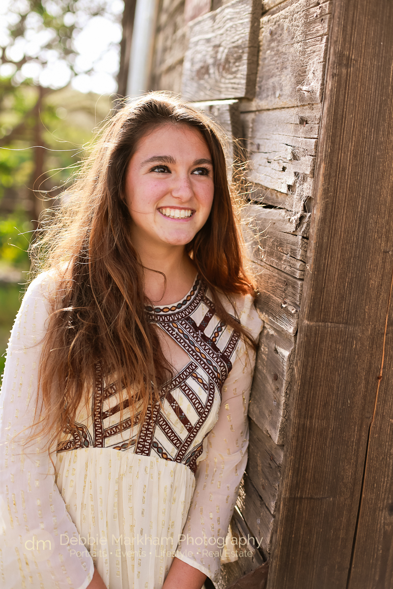 Cambria Photographer_Debbie Markham Photography_Outdoor Senior Portrait_Country Road_Small Town-8952