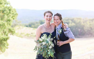 Beer Toasting_Navy Wedding Dress_LGBT Wedding_Central Coast_California_Dancing Deer Farm_Templeton_Destination LGBT Wedding_Photographer Debbie Markham