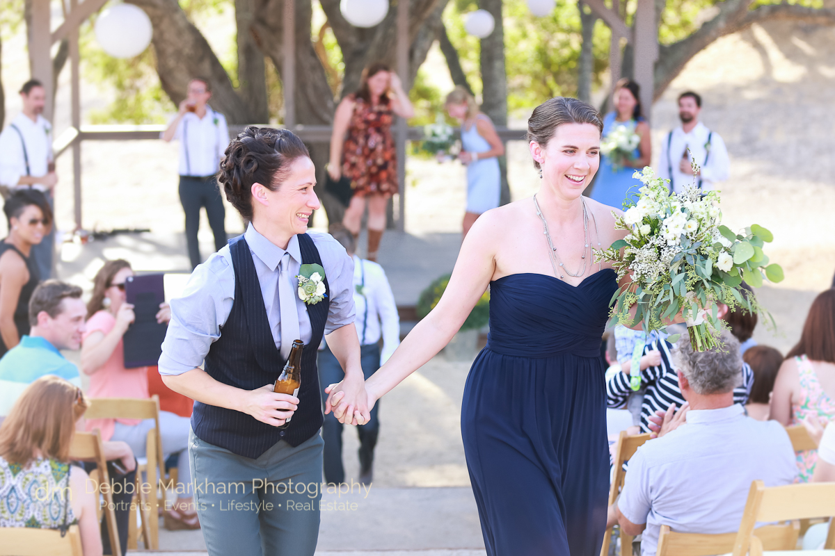 Kissing Two Brides_Navy Wedding Dress_LGBT Wedding_Central Coast_California_Dancing Deer Farm_Templeton_Destination LGBT Wedding-0221