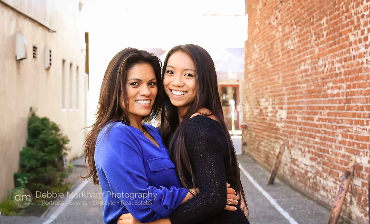 San Luis Obispo Family Photographer_Debbie Markham Photography_Central Coast_California_Fun Holiday Card Photo_Mother Daughter