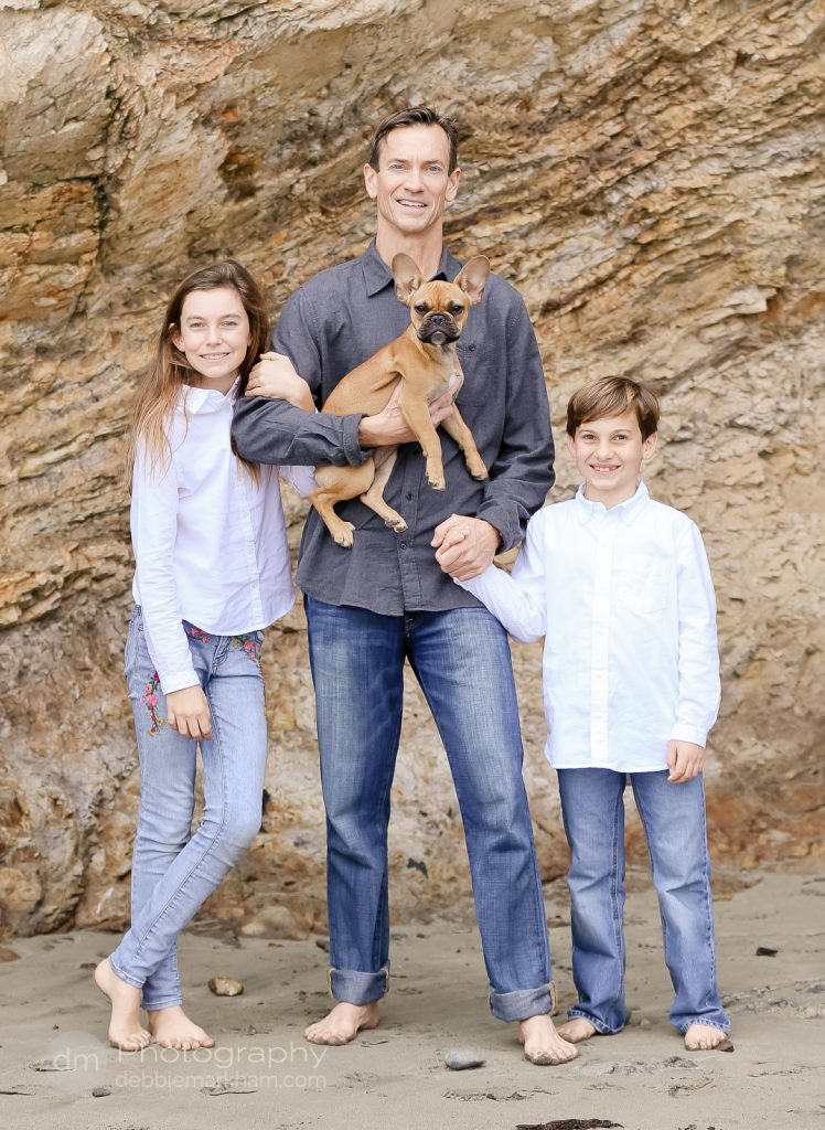 Family Portraits_Hearst State Beach_Small dog_2 kids_dad_photographer_Debbie Markham_Beach-6277