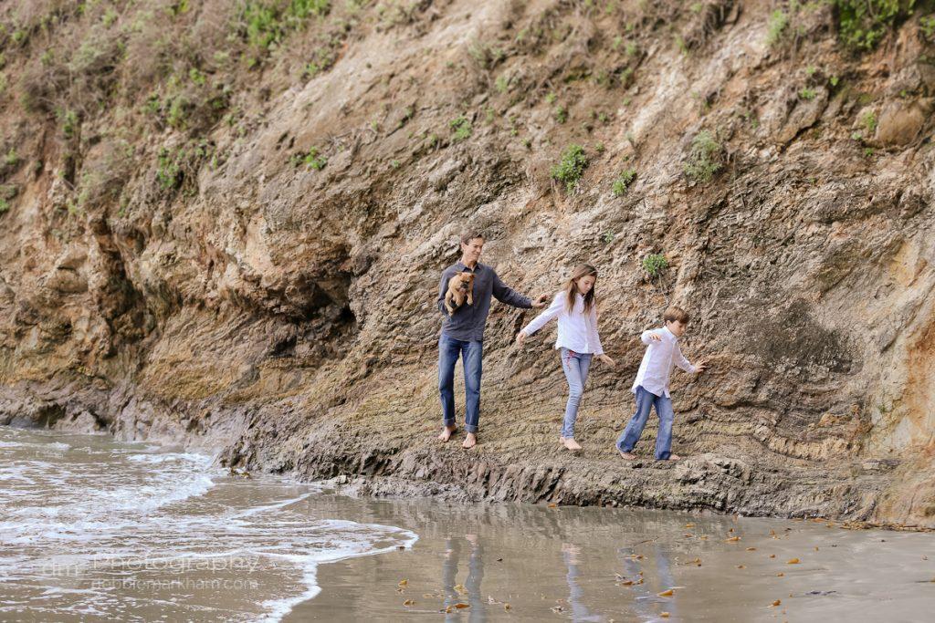 Family Portraits_Hearst State Beach_Small dog_2 kids_dad_photographer_Debbie Markham_Beach-6346