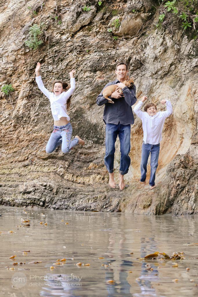 Family Portraits_Hearst State Beach_Small dog_2 kids_dad_photographer_Debbie Markham_Beach-6354