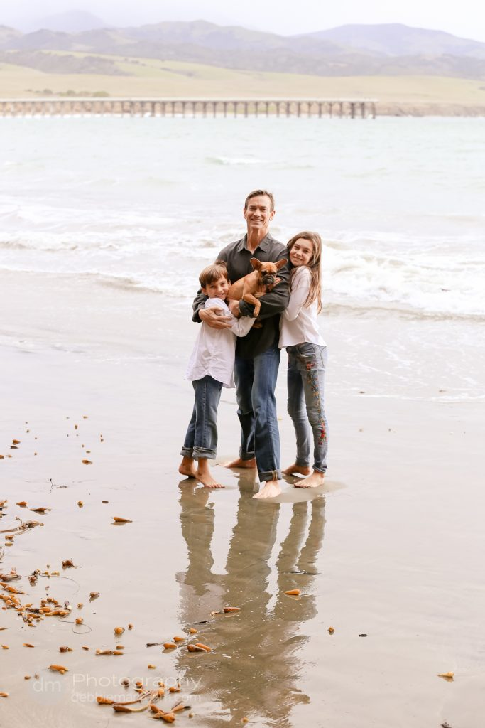 Family Portraits_Hearst State Beach_Small dog_2 kids_dad_photographer_Debbie Markham_Beach-6411