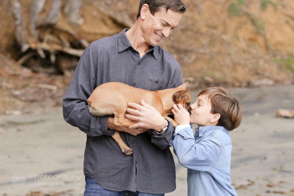 Family Portraits_Hearst State Beach_Small dog_2 kids_dad_photographer_Debbie Markham_Beach-6512