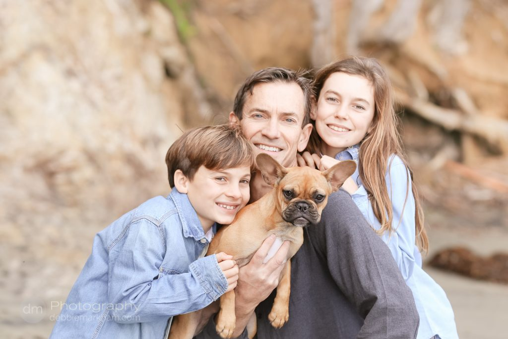 Family Portraits_Hearst State Beach_Small dog_2 kids_dad_photographer_Debbie Markham_Beach-6517