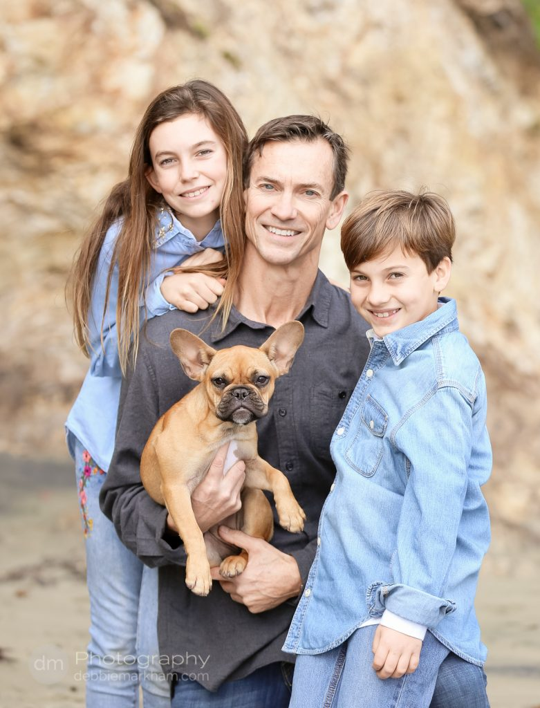 Family Portraits_Hearst State Beach_Small dog_2 kids_dad_photographer_Debbie Markham_Beach-6525