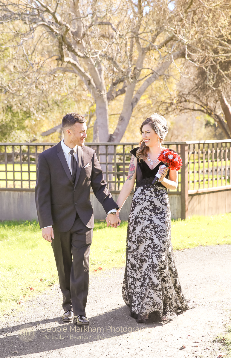 Portraits_Black Dress_Red Flowers_Unconventional_Wedding_Cambria_CA_Central Coast_Photographer_Robin's_Outdoor_Venue-7573