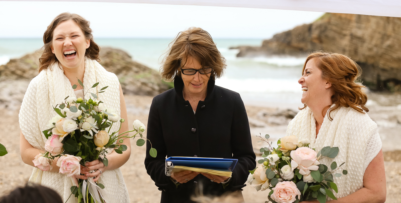 Pastel Roses for a Intimate Gay Wedding at Spooner's Cove in Montana de Oro
