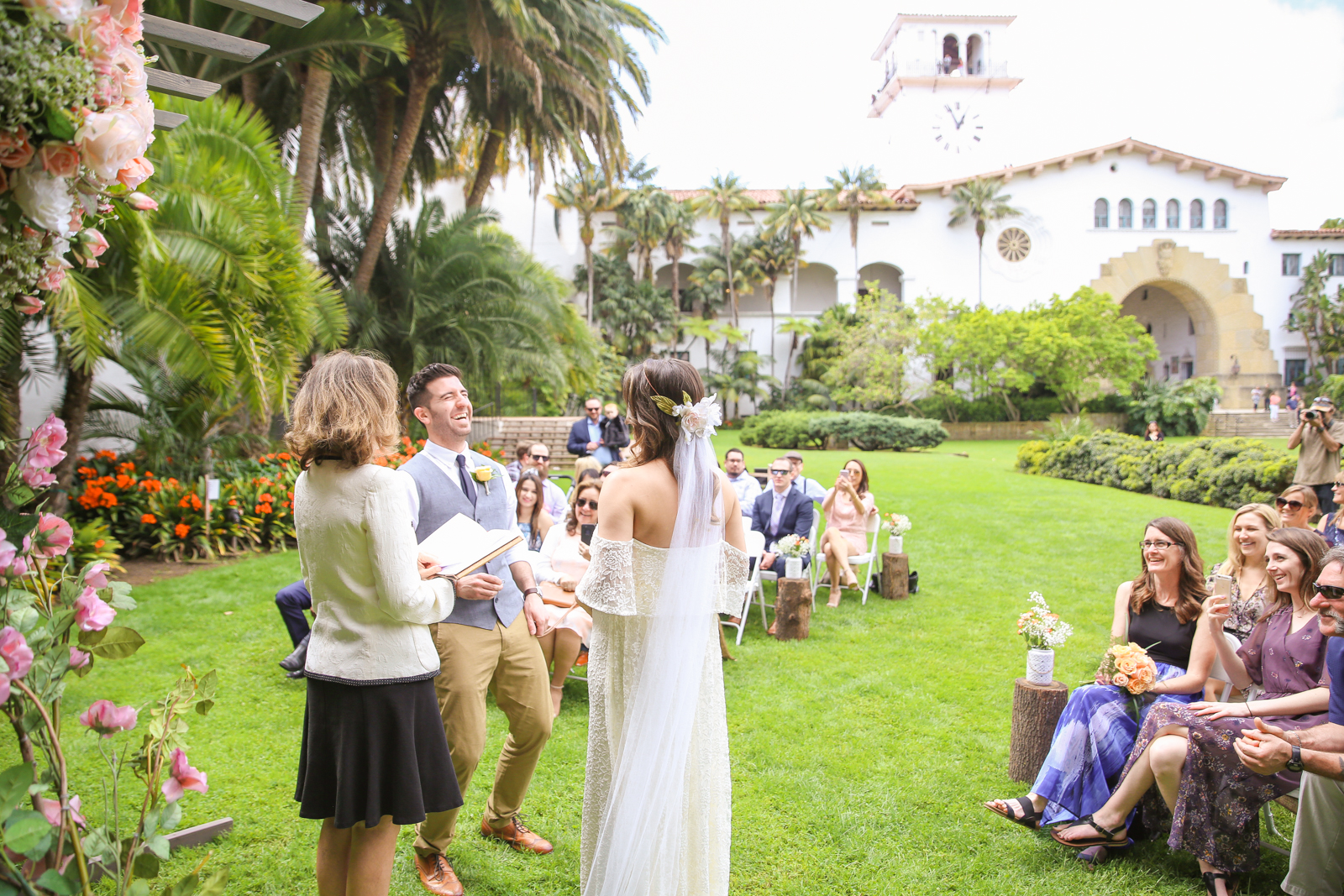 Spring Santa Barbara Courthouse Wedding
