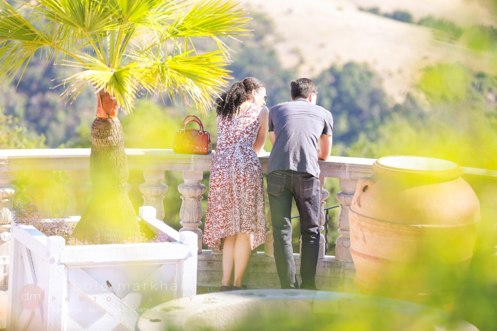 Hearst Castle Tour Surprise Proposal Engagement Photographer