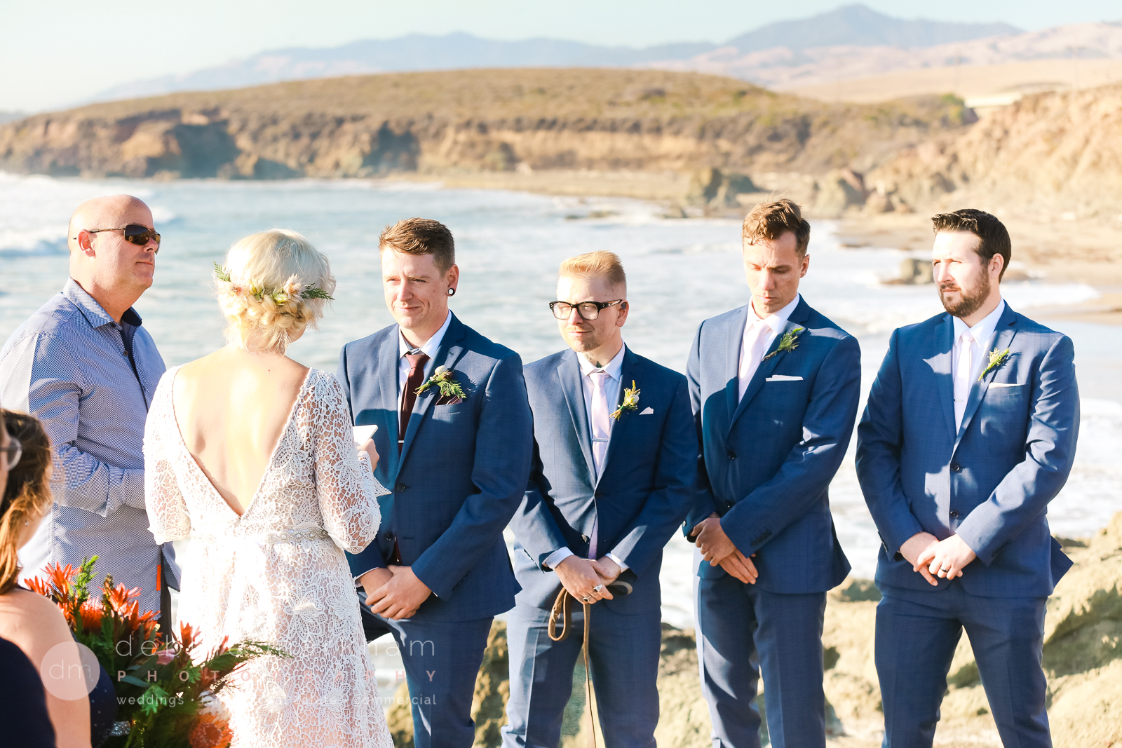 Boho Wedding on Big Sur Cliff