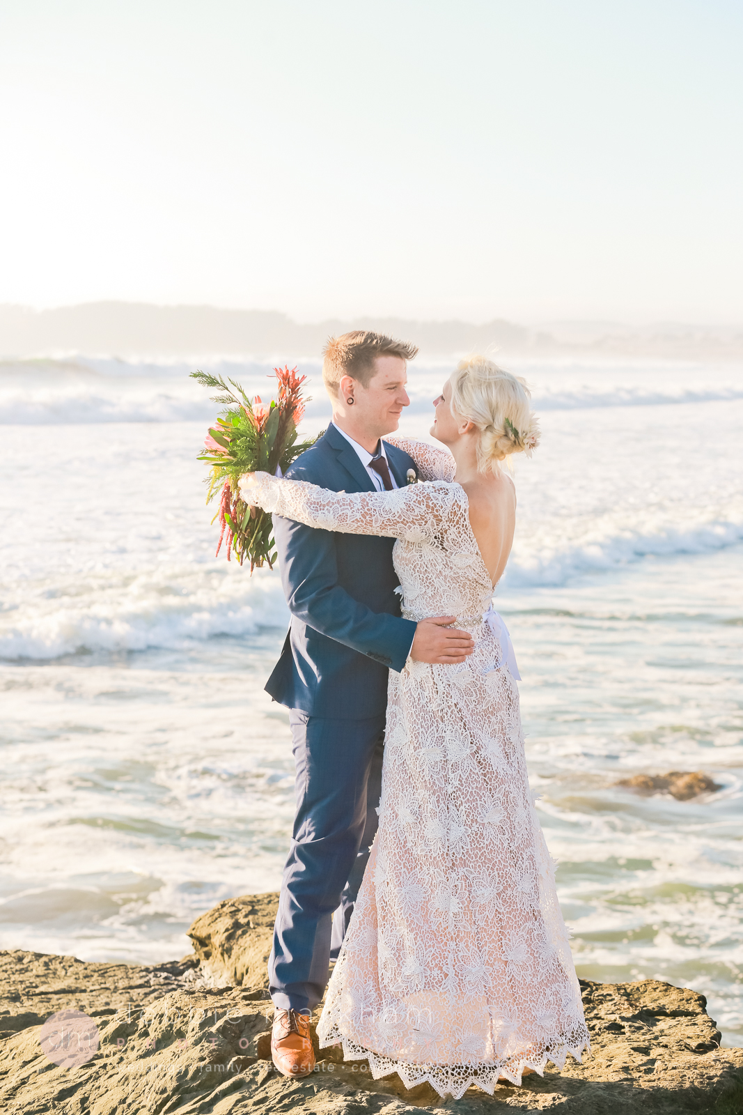 Boho Wedding on Big Sur Cliff-0771